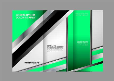 Tri-Fold Travel Mock up & Brochure Design Illustration