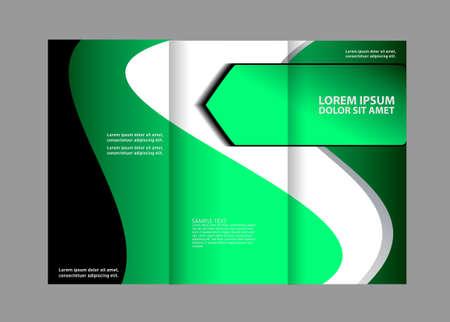 technologic: brochure design template transparent colored stripes