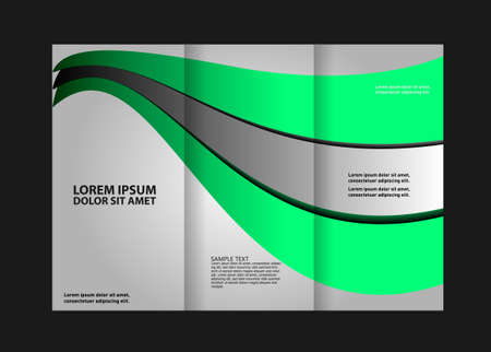 Tri-fold Brochure Template Concept Design and Catalog Vector