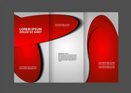 book spreads: tri fold brochure Illustration