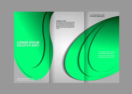magazine stack: Tri-fold brochure template design Illustration