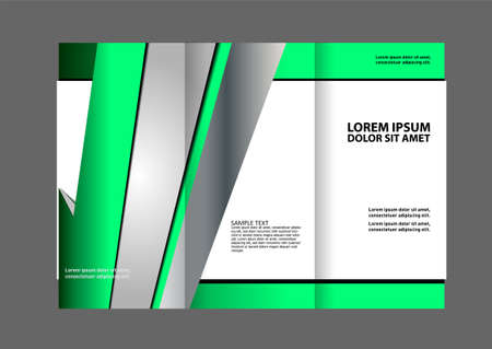 the publisher: waves curves abstract brochure design template set Illustration