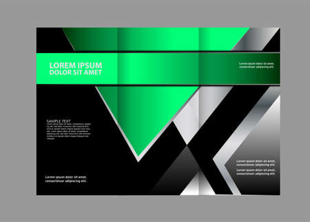 publishing: Professional three fold business flyer template, corporate brochure or cover design, can be use for publishing, print and presentation Illustration