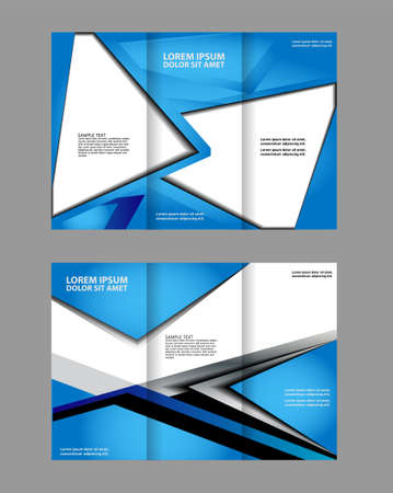 publisher: trifold brochure design template vector geometric abstract