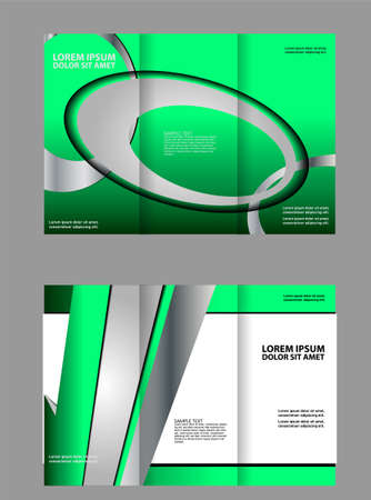 technologic: brochure design template vector abstract geometric tri-fold