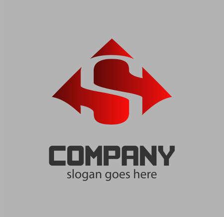 sch: Letter s icon design logo template elements.