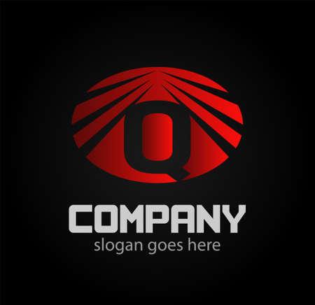 q: Letter q icon design logo template elements.