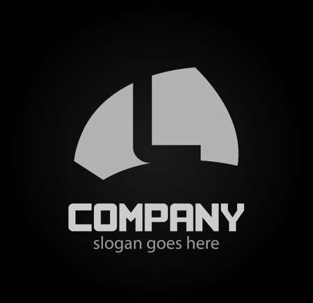 Letter L icon design logo template elements. Ilustração
