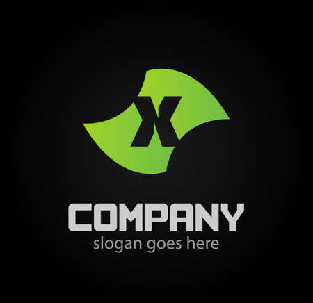 xy: Letter x icon design logo template elements. Vector color sign