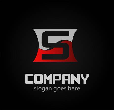 sch: Letter s icon design logo template elements. Vector color sign
