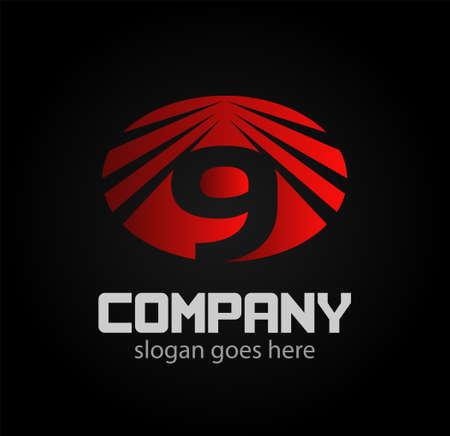 numero nueve: El número nueve logo.Logo 9