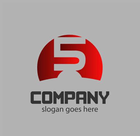 number five: Number five logo.Logo 5 vector template