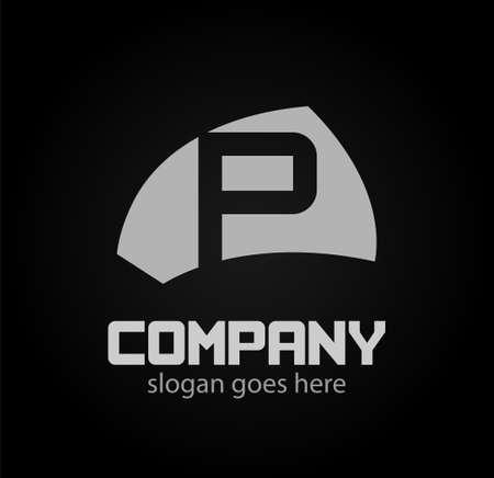 Alphabetical Logo Design Concepts Letter p