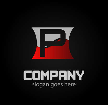 typesetter: Alphabetical Logo Design Concepts Letter p