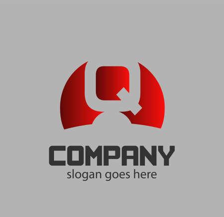 Alphabetical Logo Design Concepts Letter q