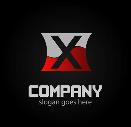 xy: Letter x icon logo design template elements Illustration