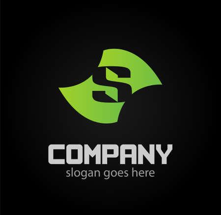 sch: Letter S logo Vector Graphic Design Icons Illustration