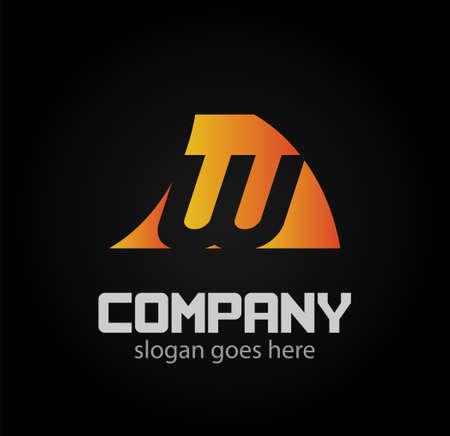 Letter W logo design template elements icon