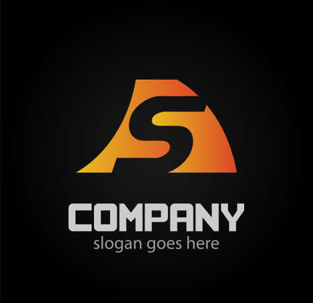 sch: Letter S logo design template elements icon. vector sign Illustration