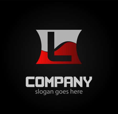 Abstract letter L logo design template Ilustração