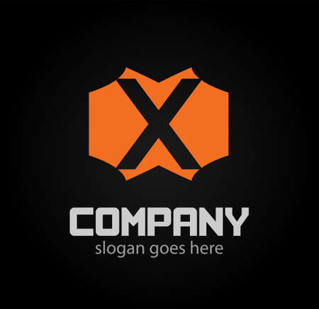 xy: Letter X logo. Business logo vector illustration Illustration