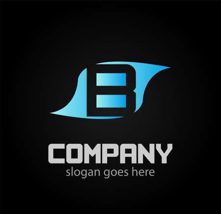 logotype: Letter B logo. Alphabet vector design logotype Illustration