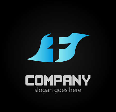 logotype: Letter f logo. Alphabet vector design logotype Illustration