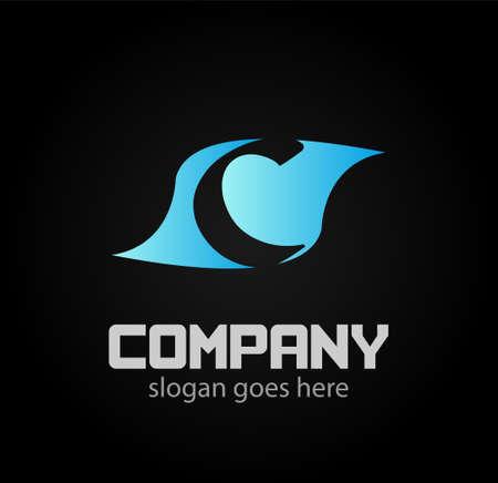 logotype: Letter c logo. Alphabet vector design logotype