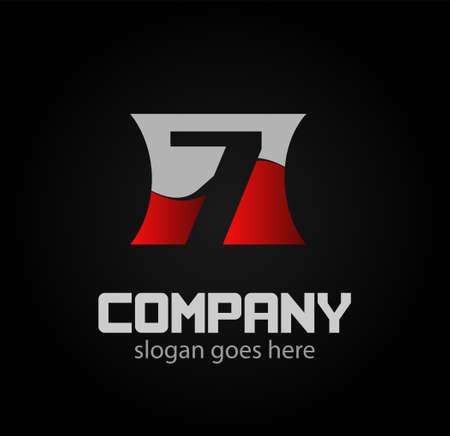 logotype: Vector 7 logotype design. Illustration