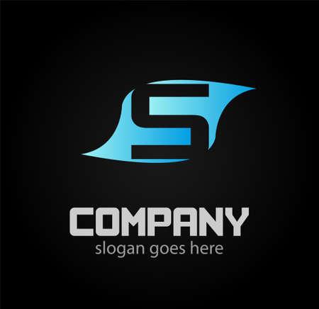 sch: Letter S logo. Business logo vector illustration