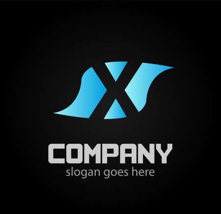 xy: Letter x logo design icon