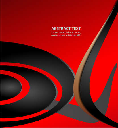 overlapping: vector elements overlapping corporate business red waves background illustration