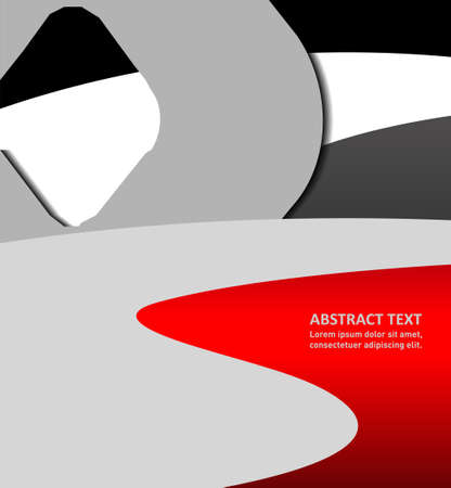 Illustration for your business presentations .. Abstract illustration brochure or flyer bor.
