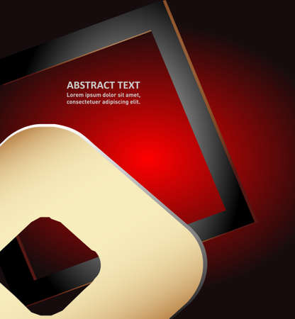 overlap: Red paper background vector illustration overlap dimension text message and message board for modern website design