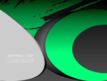 green arrow: abstract background Illustration