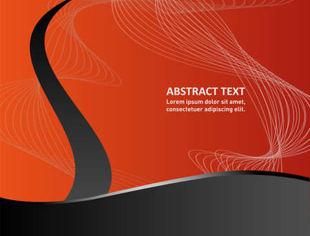 message board: Orange, black paper background vector illustration overlap dimension text message and message board for modern website design Illustration