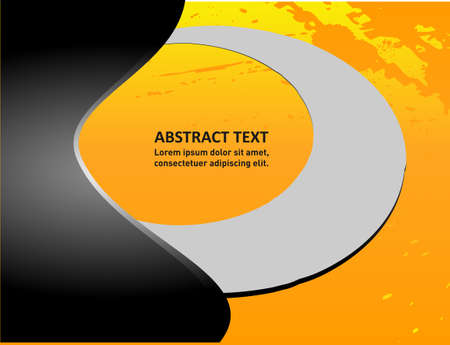 message box: Orange abstract wave vector background for design on white text and message box for design