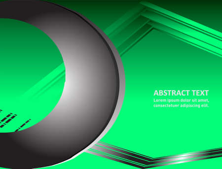 overlap: Vector illustration Green background overlap dimension text message and message board for modern website design