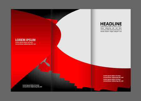 tri fold: Tri Fold Brochure Design Vector