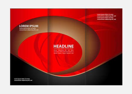 book spreads: Vector brochure template design with elements. Illustration