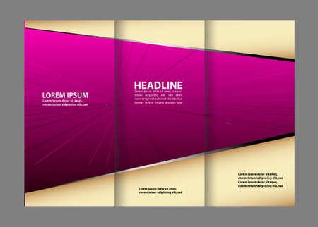 book spreads: Tri-fold brochure Vector modern design template