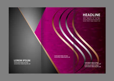 invitation barcode: Tri-Fold Mock up & Brochure Design Illustration