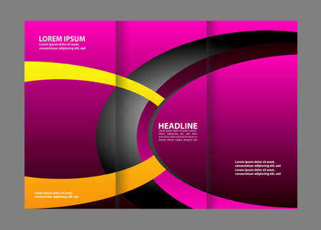 office party: Tri Fold Brochure Corporate vector illustration