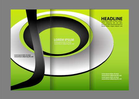 book publisher: waves curves abstract brochure design template set Illustration