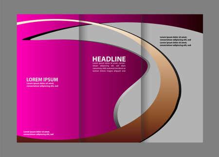 coworker banner: Tri-Fold Corporate Business Store Brochure Design Mock up &