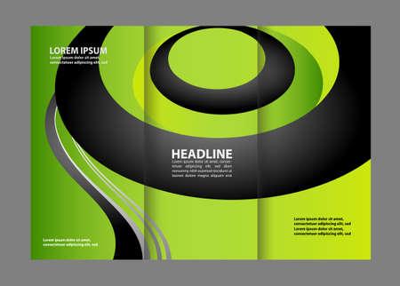 magazine stack: Tri-fold brochure design templates, business leaflet, booklet wave