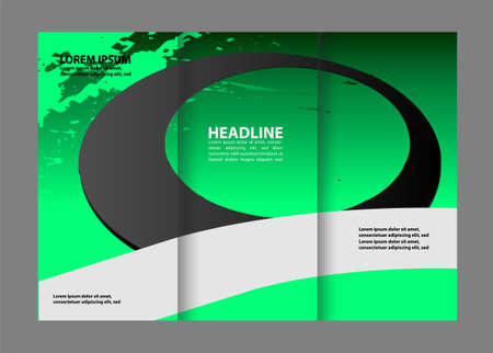 invitation barcode: Tri-Fold Travel Mock up & Brochure Design Illustration