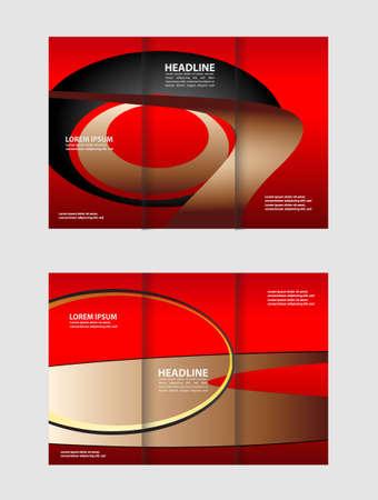 catalog: Tri-fold Brochure Design Templates and Catalog Vector