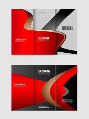 catalog: Tri-fold Brochure Multipurpose Vector Design and Catalog Illustration