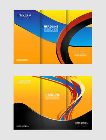 invitation barcode: Tri-Fold Brochure Design Mock Up